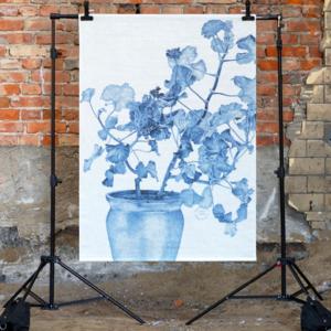 Väggbonad Geranium blå