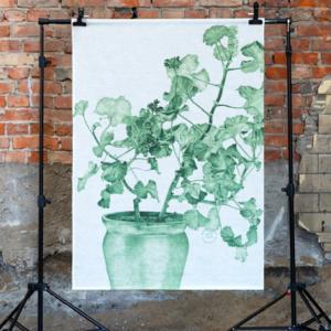 Väggbonad Geranium grön
