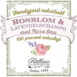 Naturtvål/schampo rosblom & lavendel